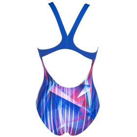 arena Shading Prism Swim Pro Back One Piece Swimsuit Women neon blue/multi
